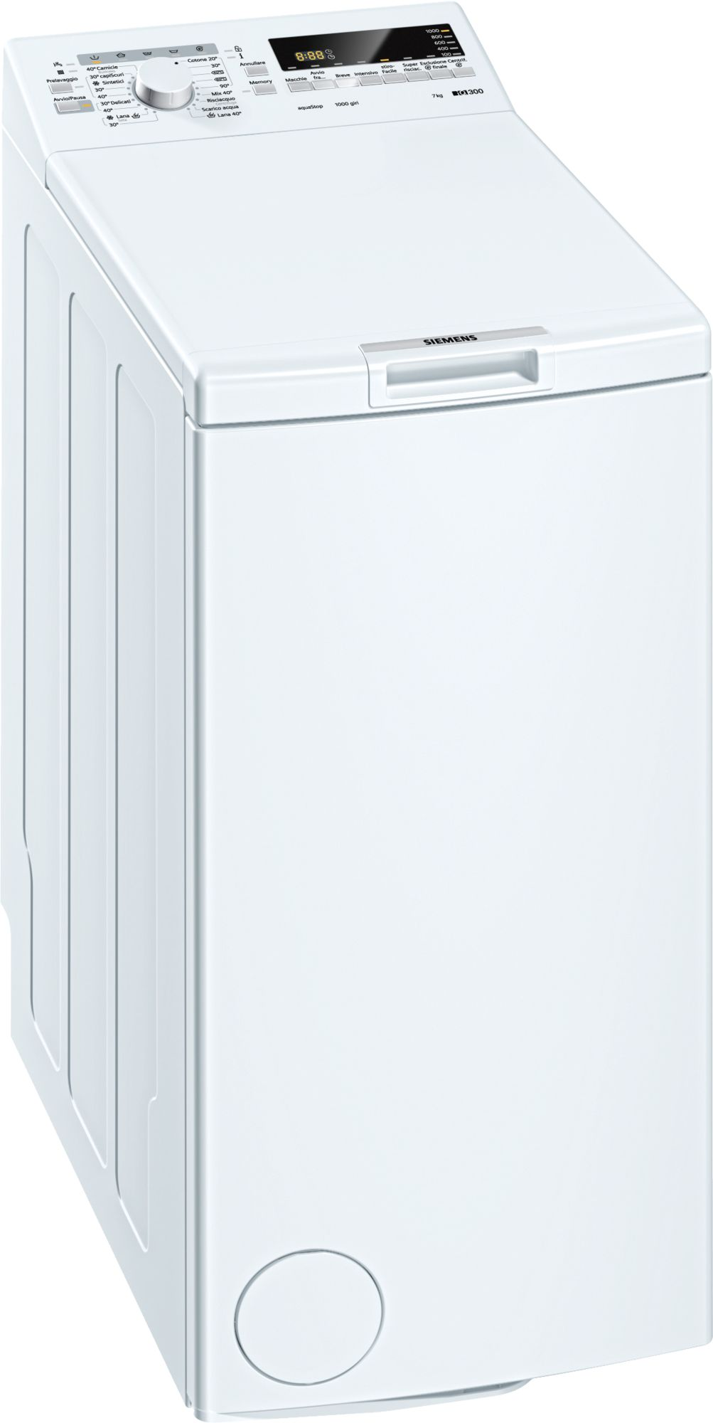 LAVABIANCHERIA FREESTANDING SIEMENS WP10T237IT WP10T237IT - BbmShop